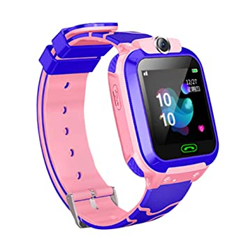 CatcherMy Smart Watch Kids, Teléfono Multifuncional Impermeable con GPS Tracker SOS Compatible con Android y iOS para Edades de 6 a 12 Años