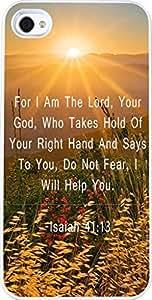 Case for Iphone 4 christian lyrics,Apple Iphone 4S Case Bible Verses Quotes Bright sunrise Isaiah 41:13