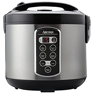 Aroma Housewares ARC-2000ASB Professional 20-Cup (Cooked) Digital Rice Cooker