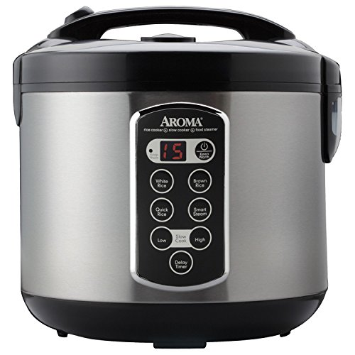 Aroma Housewares ARC-2000ASB Professional 20-Cup (Cooked) Digital Rice Cooker (Slow Cooker Rice Maker compare prices)