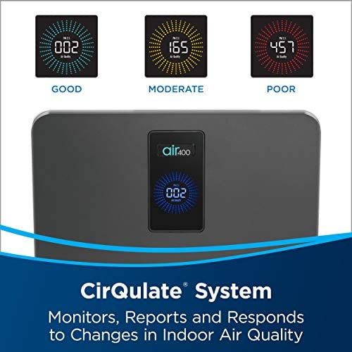 Bissell air400 Smart Purifier with High Efficiency and Carbon Filters for Large Room and Home Quiet