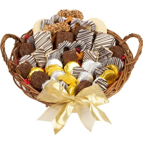 12'' Large Gourmet Favorites Cookie Gift Basket by The Gift Basket Gallery