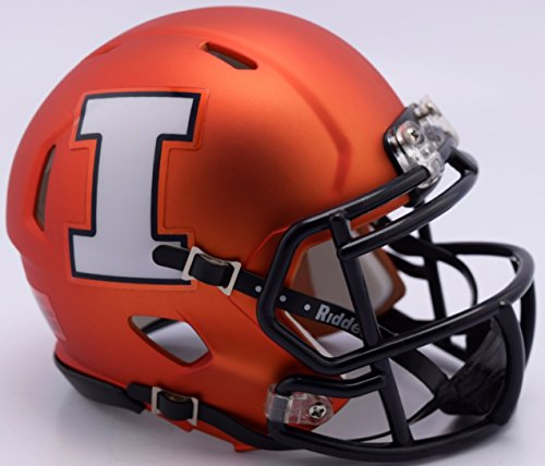 Illinois Fighting Illini 2017 Pearl Orange NCAA Riddell SPEED Mini Helmet