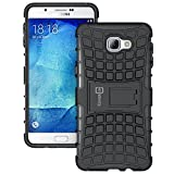 Galaxy A9 2016 Case, CoverON [Atomic Series] Hybrid Armor Cover Tough Protective Hard Kickstand Phone Case for Samsung Galaxy A9 (2016) - Black