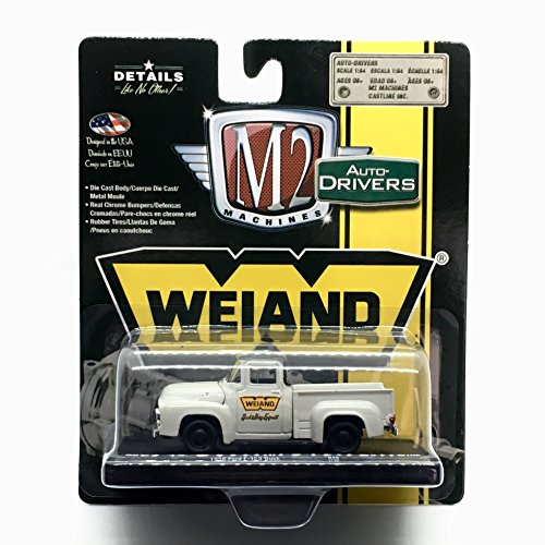 M2 Machines 1956 Ford F-100 Truck (Weiand) Colonial Creame w/Black Top Auto-Drivers Release 49 Castline 2017 Special Edition 1:64 Scale Die-Cast Vehicle (R49 17-66)