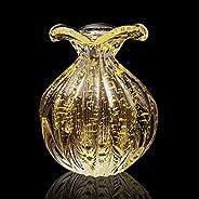Vaso Em Cristal Murano Com Ouro 24 K São Marcos