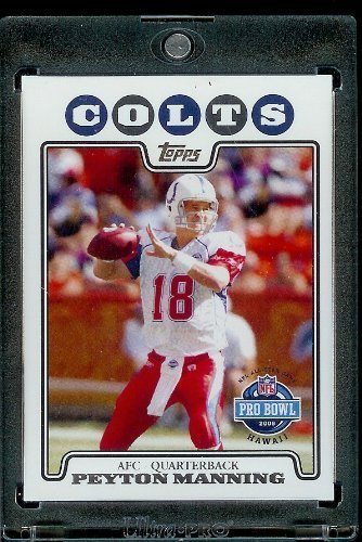 (2008 Topps # 308 Peyton Manning PB Pro Bowl - Indianapolis Colts - NFL Trading Cards)