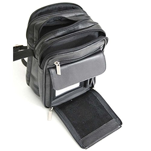 Royce Leather Vaquetta Men's Bag (Black)