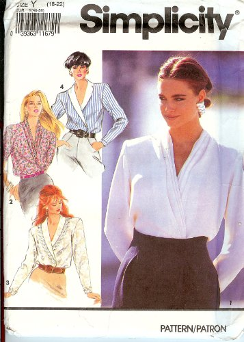 - Simplicity Shawl Collar Blouse 7453 (Size Y (18-22))