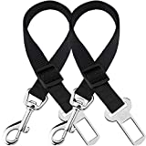 2 Adjustable car seat Belts for Dogs and Cats - Triple The Survival Rate in Accidents - Prevent Stress from Travel in Kennel - Allow Breathing Fresh air Without Pets Jumping Out - Support All Cars