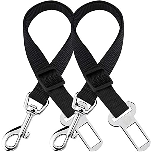 Car Seat Belts for Dogs & Cats - Prevent Stress from Travel - Allow Breathing Fresh air Without Pets Jumping Out - Support All Cars