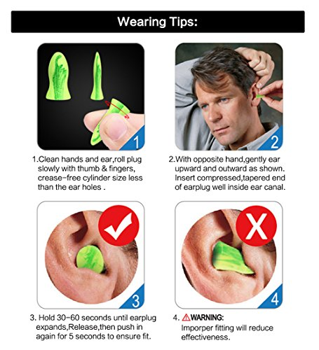 Ear Plugs AMAZKER Bell-Shaped Ultra Soft Earplugs Perfect For Sleeping Snoring Working Study Travel With Aluminum Carry Case No Cords Noise Reduction SNR 35dB 50 Pairs(AM-1006) by AMAZKER (Image #6)
