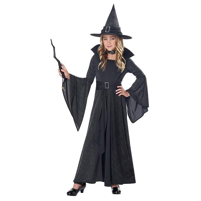 Amazon.com: Disfraz de bruja para Halloween con luz de luna ...