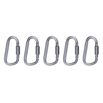 sevenmye anilla en D de aluminio de bloqueo mosquetón ...