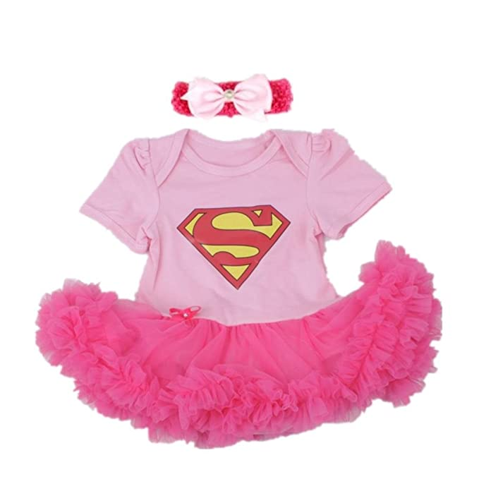 Starkma Supergirl Newborn Infant Baby Girl Set Clothe Cake Dress S02 L