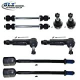 DLZ 8 Pcs Front Suspension kit-2 Lower Ball Joint 2 Outer 2 Inner Tie Rod End 2 Sway Bar for 1982 1983 1984 1985 1986 1987 1988 Ford Thunderbird Mercury Cougar 1982 1983 Ford Fairmont