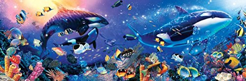 MasterPieces Dynamic Orcas Panoramic Jigsaw Puzzle, Art by Christian Lassen, 1000-Piece