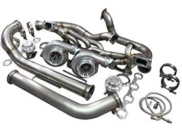 CXRacing Twin Turbo Kit For 79-93 Ford FoxBody Mustang 5 0L Dual