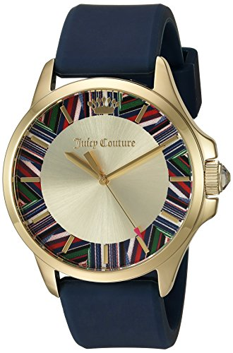 Juicy Couture Women's Navy Blue Silicone Strap Watch - 1