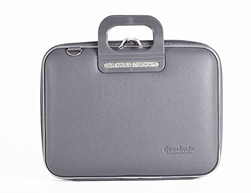 Bombata Firenze Briefcase 13-Inch (Charcoal)
