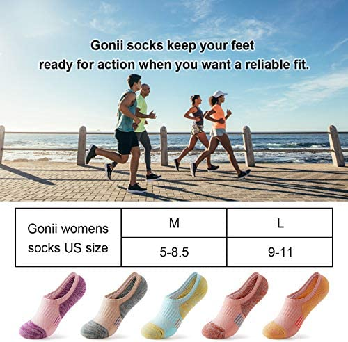 No Show Athletic Socks 5 Pairs Hiking Running Ankle Socks For Women Cushion Low Cut Socks
