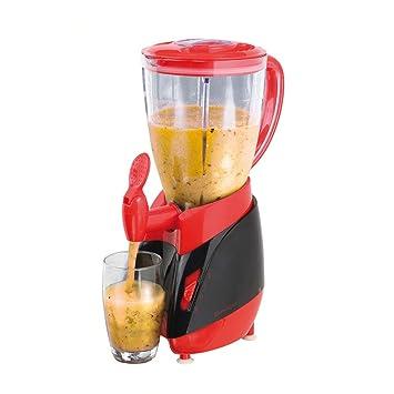 Batidora con grifo (Mix Depósito de 1,5 litros Smoothie maker Licuadora (Blender, licuadora, 350 W, leche Coctelera, cóctel de Maker, Rojo): Amazon.es: ...