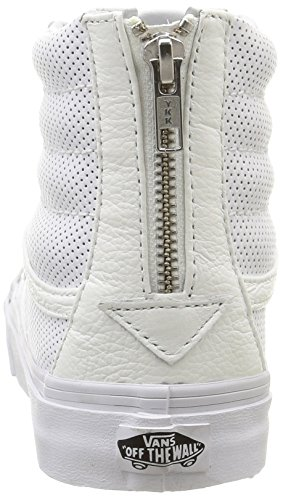 Bianco Zip Slim Perf White U Leather Perf Leather True Hi Vans Sneakers Sk8 Unisex zIq1g