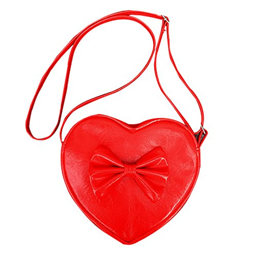 Felice Little Girls Mini Heart Shape Coin Change Purse Crossbody Handbag for Toddlers