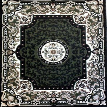 Traditional Square Persian Area Rug Sage Green Design 101 7 Feet 3 Inch X 7 Feet 3 Inch Square