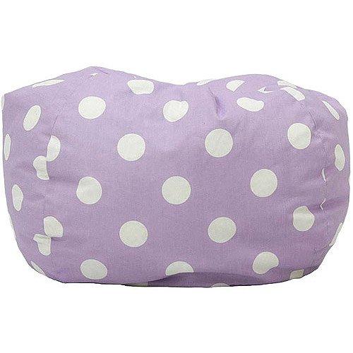Classic Garbadine Bean Bag, Polka Dots - Lavender