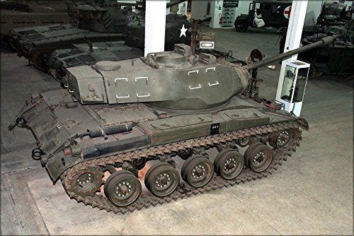 24x36 Poster . M41 Walker Bulldog Tank