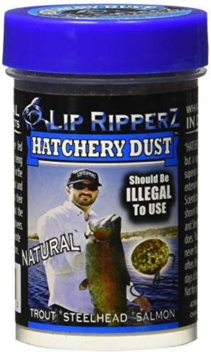 Lip Ripperz Natural Hatchery Dust Prepared Fishing Bait, Brown