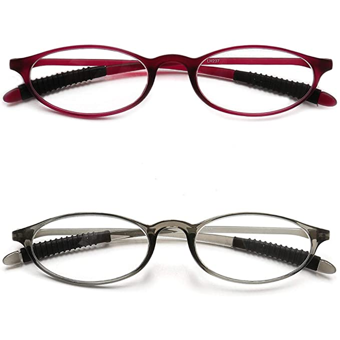67b3c5d5f1 VEVESMUNDO Gafas de Lectura Mujer Hombre Vintage Ovaladas Pequeñas Flexibles  Presbicia Vista Leer 1.0 1.25 1.5 1.75 2.0 2.25 2.5 2.75 3.0 3.25 3.5: ...