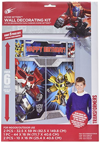 Transformers Scene Setter Wall Decorations Kit - Kids