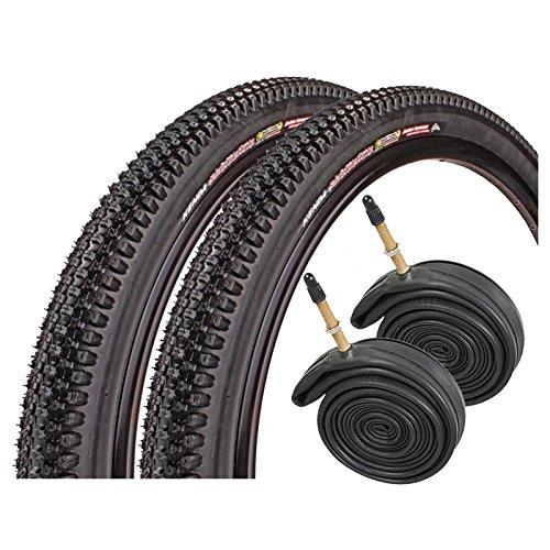 """KENDA Small Block 8 26"""" x 2.1 Mountain Bike Tires with Presta Tubes (Pair)"""