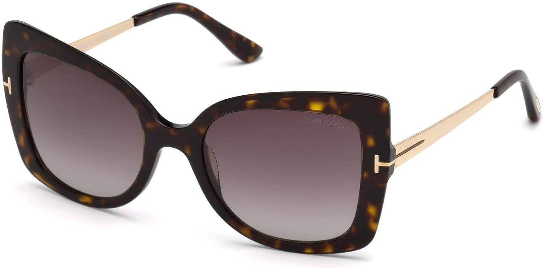 2023623d3d2cf Amazon.com  Tom Ford FT0609 52T Dark Havana Gianna Butterfly Sunglasses Lens  Category 3 Siz  Tom Ford  Clothing