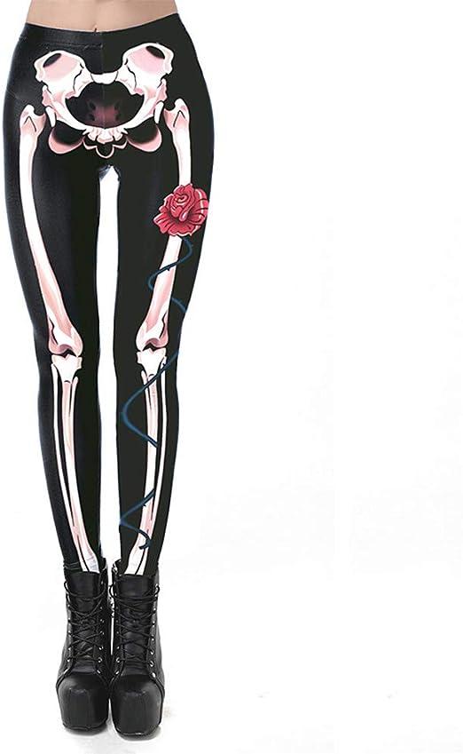 Gububi Disfraz de Esqueleto Digital de Moda de Mujer de Halloween ...