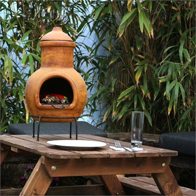 outdoor clay fireplace - 7