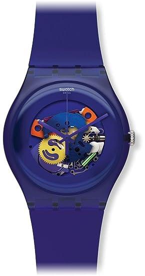 Swatch SUOV100 - Reloj para niñas, Correa de plástico Color Morado: Amazon.es: Relojes