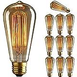 KINGSO E27 40W 220V ST64 Edison Lampe Warmweiß Vintage Stil Edison Glühbirne Retro Licht Vintage Bulb Antik Beleuchtung
