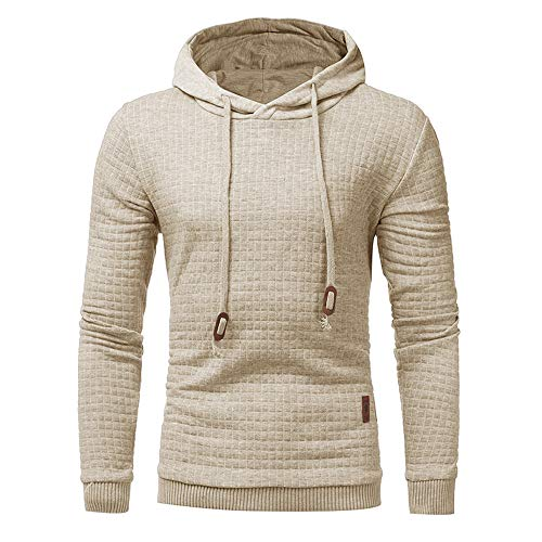b48df1708f2cb Hoodies for Men, Clearance Sale! Pervobs Men's Autumn Casual Long Sleeve  Solid Loose Hooded Sweatshirt Hoodie Outwear(4XL, Khaki)