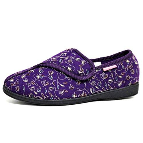 slippers Dunlop Ladies velcro BLUEBELL Purple machine famous washable 8gw6xg