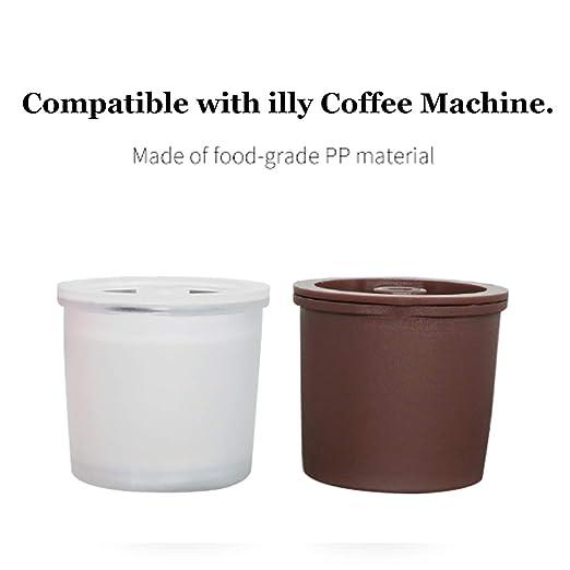 ALLOMN Cápsulas de Café Reutilizables, 3 PCS Filtro de Café ...