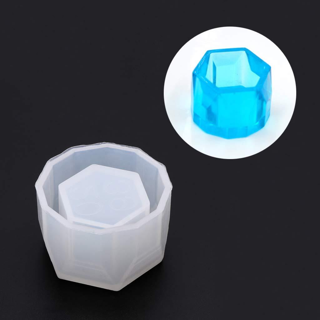 Fafalloagrron Small Hexagon Flowerpot Silicone Mould Storage Box DIY Handmade Making Crafts Crystal Epoxy Mold