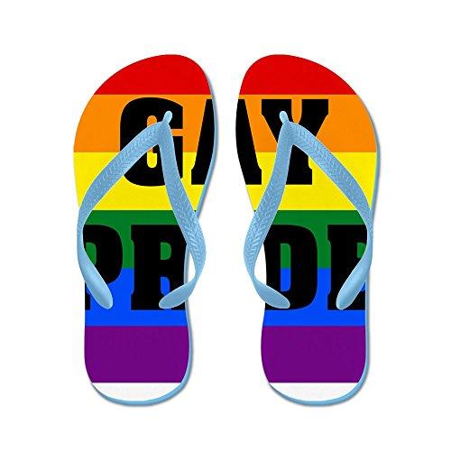 Cafepress Gay Pride - Flip Flops, Grappige String Sandalen, Strand Sandalen Caribbean Blue