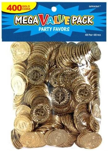 1 ct by Fun Express 1 per package Pirate Bag with Gold Coins