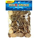 Amscan Novelty Plastic Gold Coins Value Pack - 400 Ct.