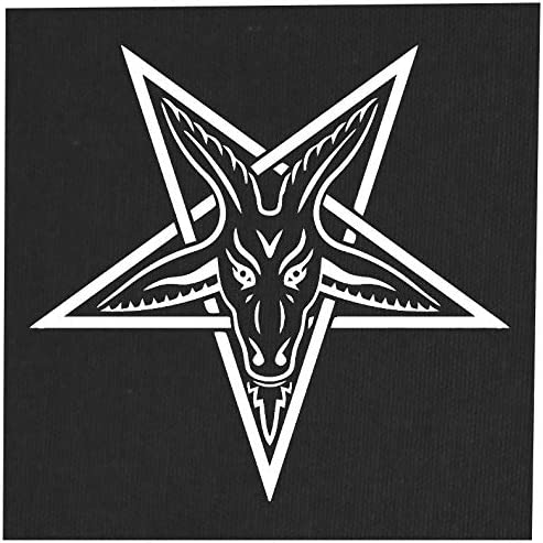 Gothic Metal Occult Punk Skeleton Wicca Pentagram Demonic Dragon Demon Evil Goat Mendes Skull Goats Head Satan Satanic Devil Baphomet Sigil of Lucifer Inverted Baron Samedi Voodoo Veve Back Patch
