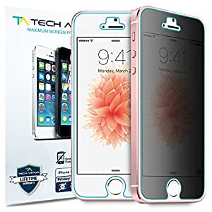 iPhone 5 Privacy Screen Protector, Tech Armor 4Way 360 Degree Privacy Apple iPhone 5C / 5S / 5 / SE Film Screen Protector [1-Pack]