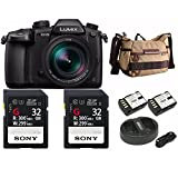 Panasonic GH5 Lumix 4K Mirrorless Camera w/ Hard Case & 2 X 32 GB UHS-II SD Card Bundle & Havana 21 Bag